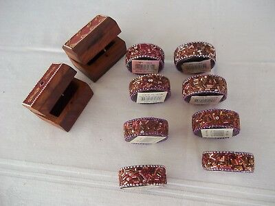 Beaded Votive holders and 2 Boxes From India