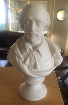 WILLIAM SHAKESPEARE PARIAN BUST Porcelain Staffordshire Ware J&T BEVINGTON Stoke