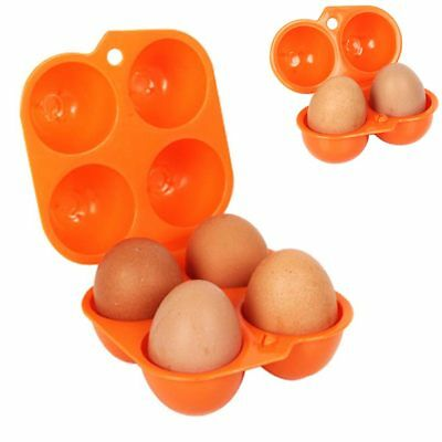 Portable 2/4 Grid Egg Stack Tray Holder Eggs Carrier Container Storage Box Mini