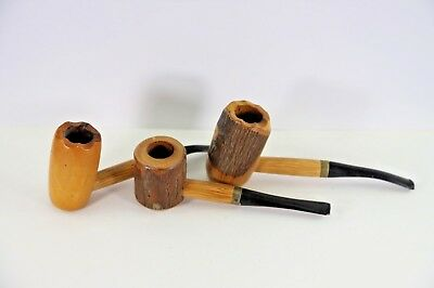 Three Vintage Wood Smoking Pipes, One Sunday, One World Famous Cherry
