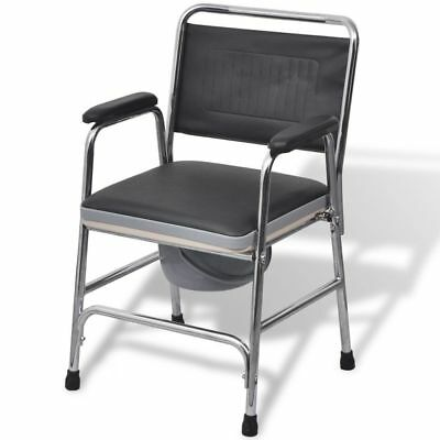 Elderly Disability Aid Support Commode Bedside Bathroom Toilet Stool Seat Chair