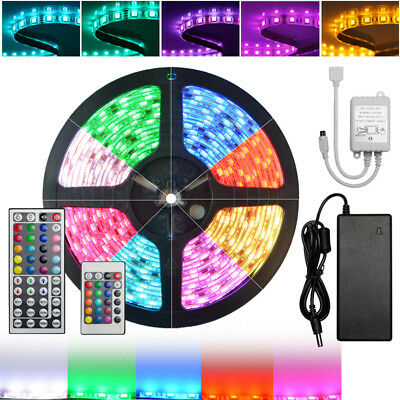 5050/3528 SMD RGB 12V 60W LED Strip Adapter IR Controller Remote Waterproof Kit