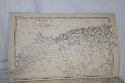 SOUTHERN AFRICA, CAPE COLONY, NATAL 1877 Antique K. Johnston Map Print