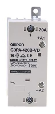 Omron 20 A Solid State Relay, Zero Crossing, Chassis Mount Triac, 440 V Maximum