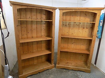 pine,open front,freestanding,bookcases,adjustable,shelves,PRICE=1,pair,two,large