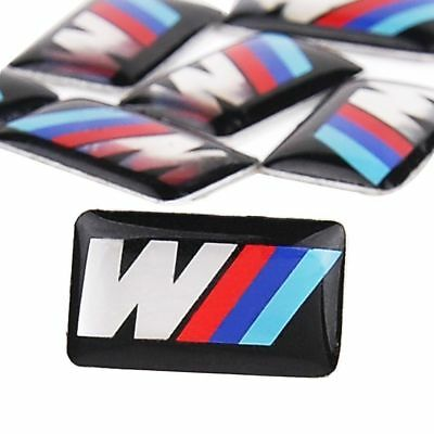 1-5 for BMW M tec sport wheel badge m3 m5 m6 emblem sticker 18mm x 10mm 3D logo