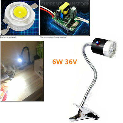 CNC Machine LED Lamp 6W 36V Working Light Flexible Clamp Base Waterproof 600mm