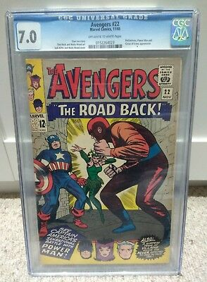 Avengers #22 Cgc 7.0 Ow Pages