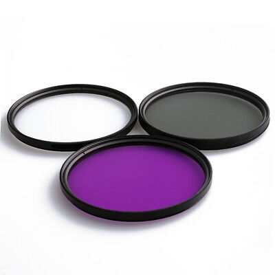 52MM UV Lens +CPL Lens+FLD Lens 3 in 1 Lens Filter Set for Digital SLR Camera dl