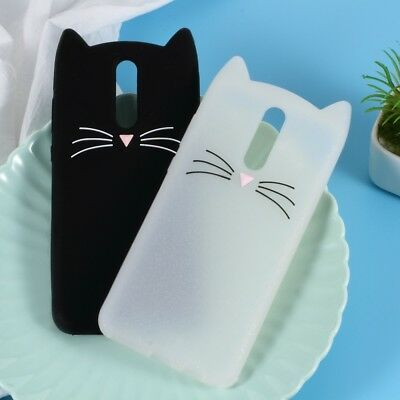3D Mustache Cat Silicone Case Cover for Huawei Mate 10 Lite/ nova 2i / Maimang 6