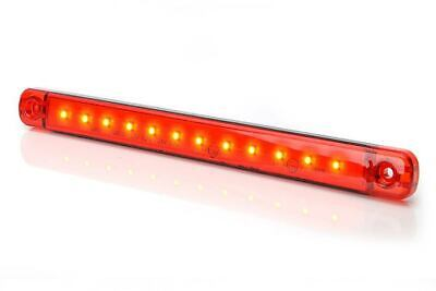Lkw Positionsleuchte, 12/24V, slim, extra flach und lang mit 12x LED, Rot