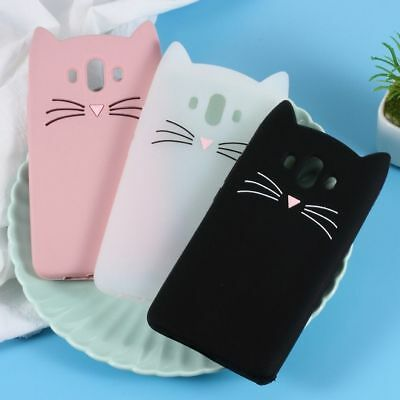 Cute 3D Moustache Cat Silicone Phone Shell Case Cover for Huawei Mate 10