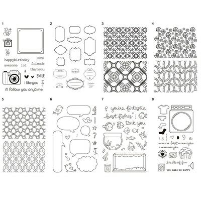 Transparent Silicone Clear Rubber Stamp DIY Cling Diary Scrapbooking Card Decor