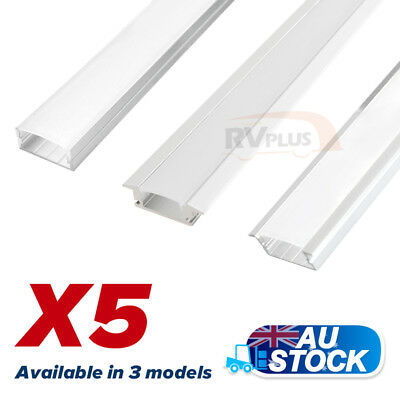 5X1M Flat Extrusion Alloy Aluminum Bars for LED Strip Lights Kitchen Bathroom RV
