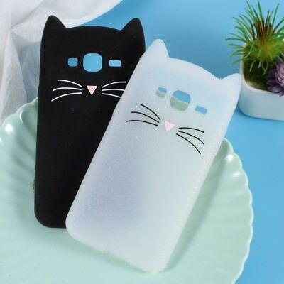Cute 3D Moustache Cat Silicone Case Cover for Samsung Galaxy J3 (2016) -3 Colors