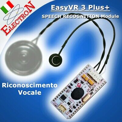 EasyVR 3 Plus Modulo Riconoscimento Vocale Speech Recognition ORIGINAL Arduino