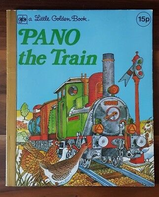 PANO THE TRAIN by Sharon Holaves A Little Golden Book (Paperback, 1976)