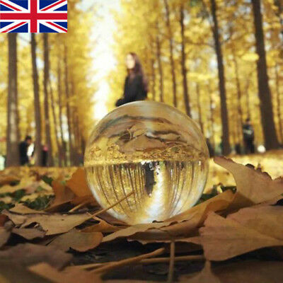 50mm Clear Glass Crystal Ball Healing Sphere Photography Props Lensball Decor