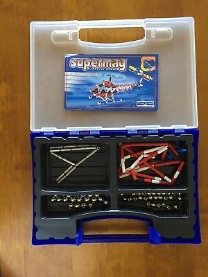 Supermag Magnetic Hubschrauber Helikopter Konstruktion Building Set mit Anl.