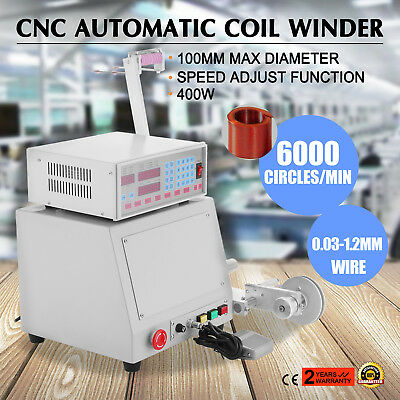 Automatic Coil Winder Speed Adjust Function 0.03-1.2Mm 6000 Circles/minute