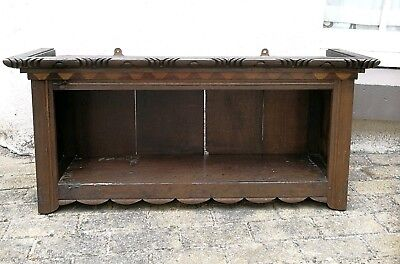 Antique Oak Hanging Wall Shelf