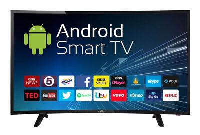 """Cello 40""""  CURVED LED TV ANDROID SMART FREEVIEW HD 2 HDMI USB HD 720p BRAND NEW"""