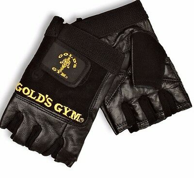 Golds GYM Max Lift Leather Weight Lifting Gloves Body Building Gold's Gym Gloves