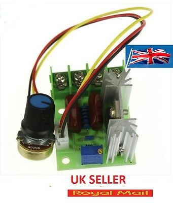 AC 220V SCR adjustable Voltage Regulator Motor Speed 2000W Controller #B252