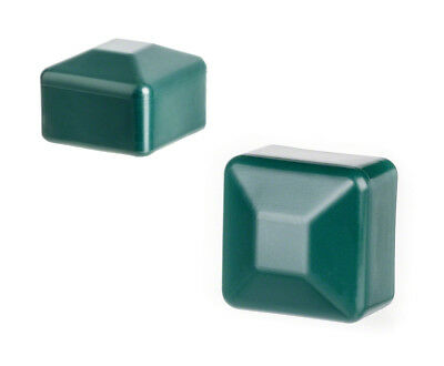 25 caps green post end square plastic fence accessories cover tube plug external