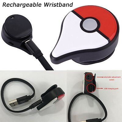 Pokemon Go Plus Rechargeable Bluetooth Wristband Watch Game Accessory fr Nintend
