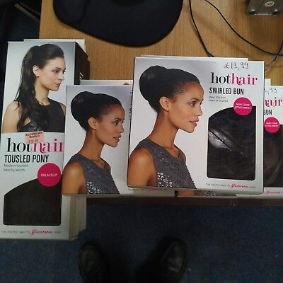 7x Hot Hair Extensions Accessories Bun Pony Assorted Designs Colours NEW Resell