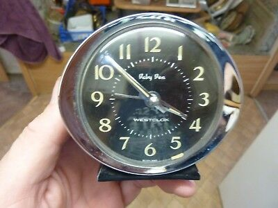 "Nice Small Old ""baby Ben"" Travel Alarm Clock (Bb)"