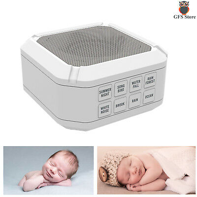 White Noise Sound Machine Easy Sleep Baby Relax Therapy Kids Portable w/ Timer