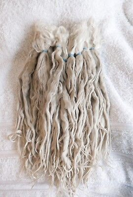 Suri Alpaca Fleece/ Locks. RAW unwashed. pure white. very long. 1ounce