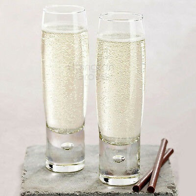 8ac25006d34 SET OF 4 Durobor 150ml Modern Stemless Champagne Flutes Prosecco Wine  Glasses