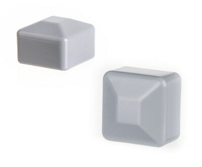 25 caps grey post end square plastic fence accessories cover tube plug external