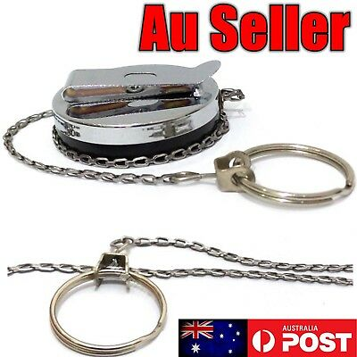 1X 5X Heavy Duty Metal Chain Retractable Pull Key Ring Belt Clip Steel Id Card