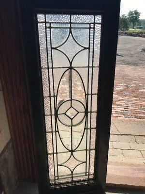 SG 2361 antique Stainglass transom textured and beveled glass 16 x 42