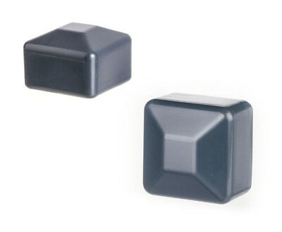 25 caps anthracite post end cap square plastic fence cover tube plug external