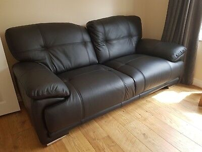 Astonishing Used Genuine Italian Leather Sofa 2 Seater In Black Ibusinesslaw Wood Chair Design Ideas Ibusinesslaworg