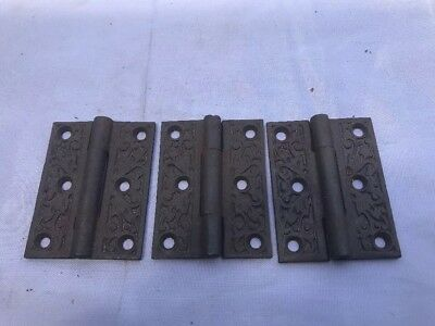 3 Available - Antique Eastlake Victorian Cast Iron Hinge Hardware Collectible