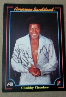Chubby Checker autograph on American Bandstand card, 1997