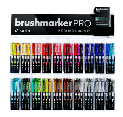 karin Brushmarker PRO, DecoBrush-Metallic, Mega Box, Neon, Brush Pen Lettering