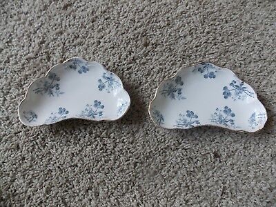 Ridgways England Crescent Bone Dishes -- Blackberry Pattern  -- Quantity of Two