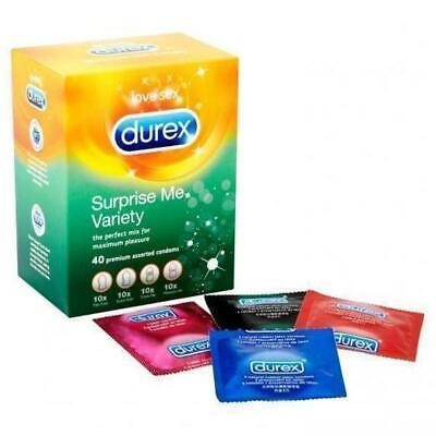 Durex Mélange Condoms Assortiment Élite Pleasuremax Parfumé Anatomic Fetherlite