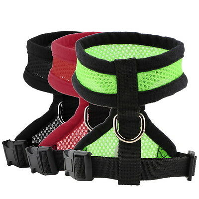 Pet Harness Collar Leash Strap Mesh Dog Cat Adjustable Vest Breathable Puppy OU