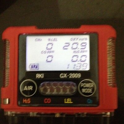 RKI GX-2009 4-Gas Monitor with charger, new oxygen and fresh calibration