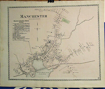 1872 Map of Manchester Massachusetts from D.G. Beers Atlas