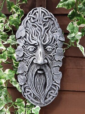 GREEN MAN HAIR BOW greenman pagan wiccan mystical witch god celtic tree wicca
