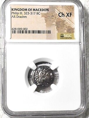 Ancient Greece, Alexander the Great/Philip III, Silver Drachm, 323-317 BC, NGC